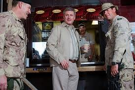 Prime Minister with the troops at Timmy's