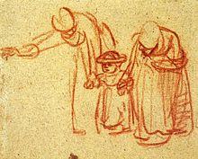 Rembrandt, gesture drawing