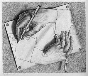 M.C. Escher Drawing Hands