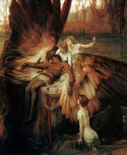 Draper Herbert James Mourning for Icarus, 1898 Public Domain