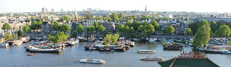 Amsterdam View from the Amsterdam Public Library Photo by Swimmerguy269m Wikipedia)