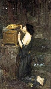 John William Waterhouse: Pandora, 1896 (Wikipedia)