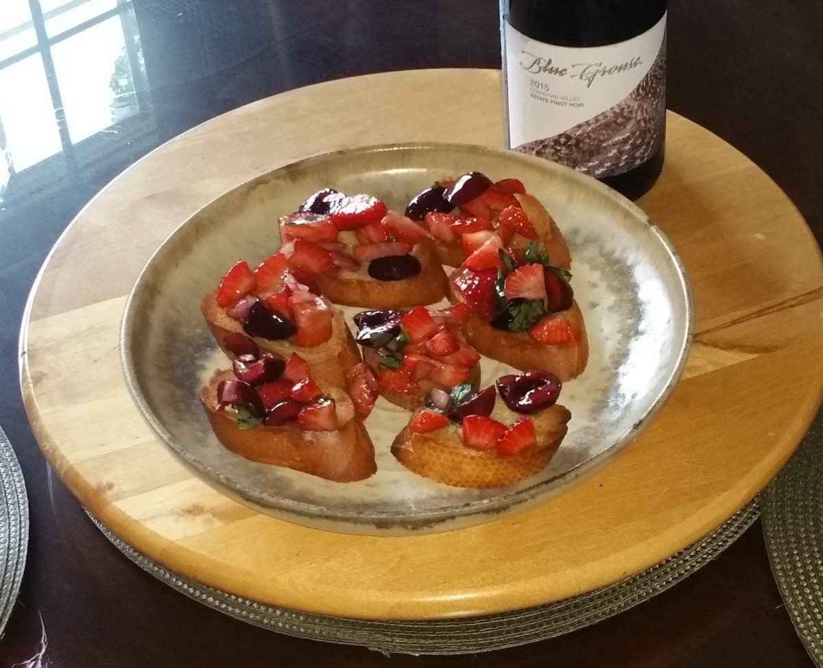 Make Cherry-Strawberry Bruschetta Like Angela Liddon