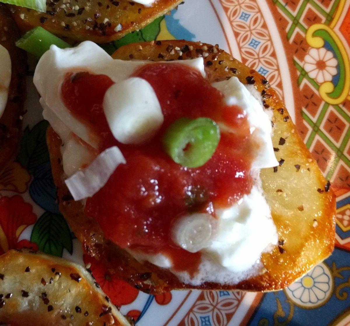 Salsa Potato Bite #FingerfoodHeaven