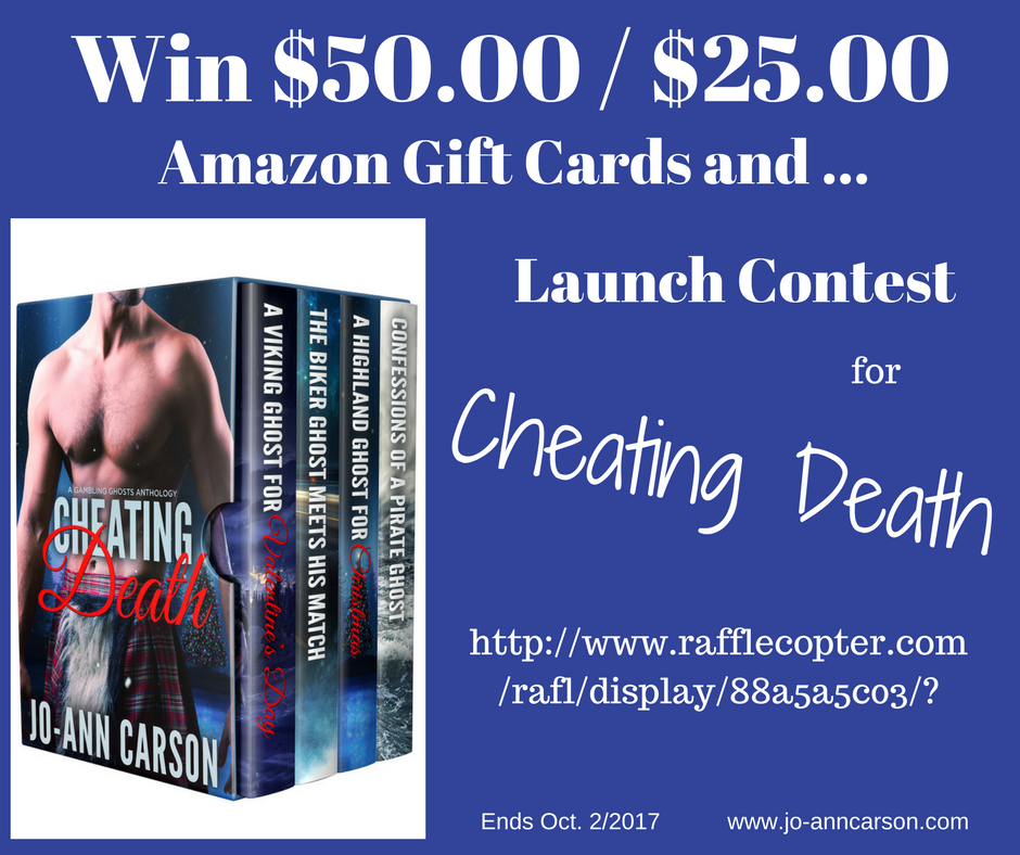 A Gigantic Launch #Giveaway for Cheating Death#Mondayblogs